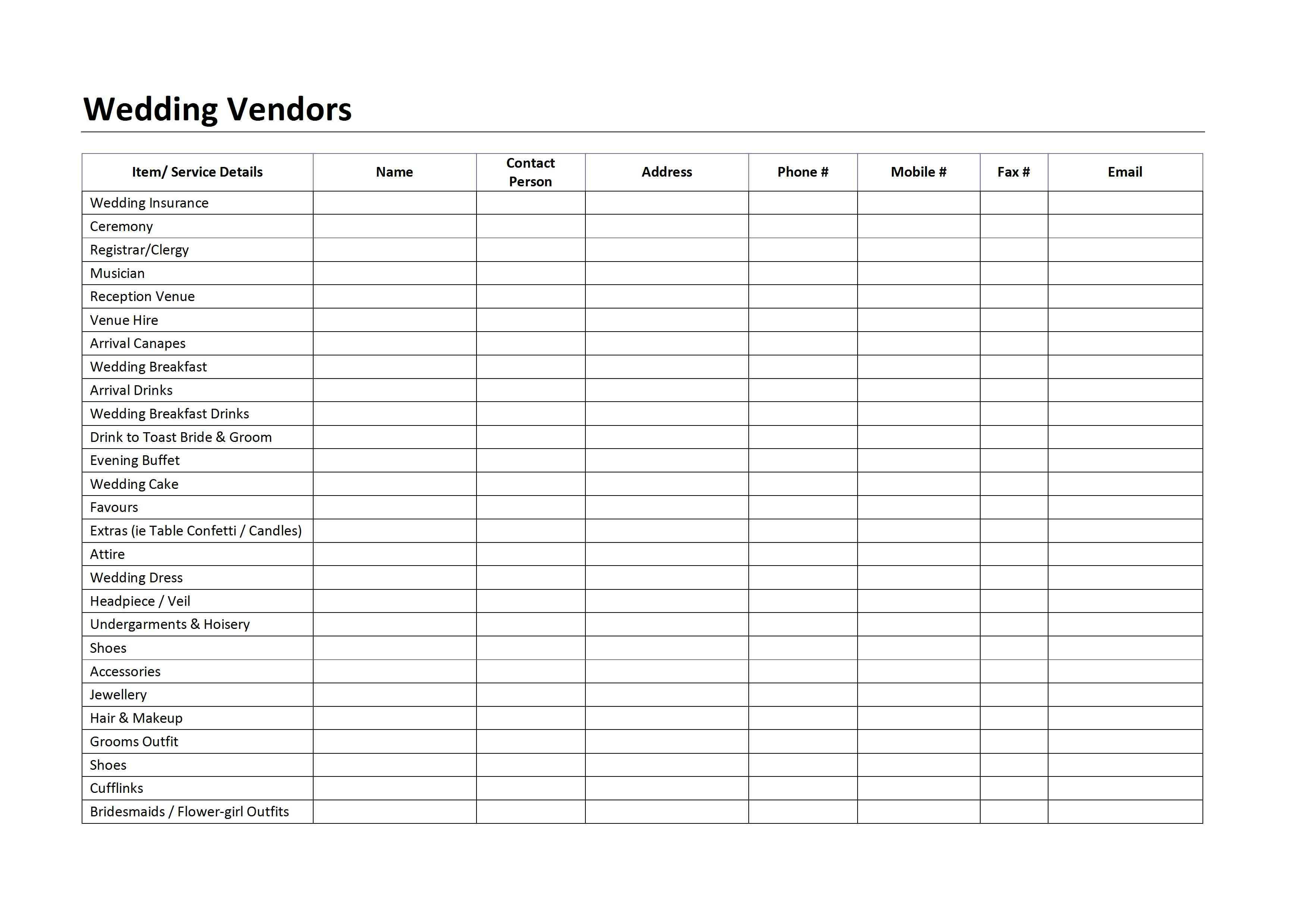 download free wedding checklist spreadsheet