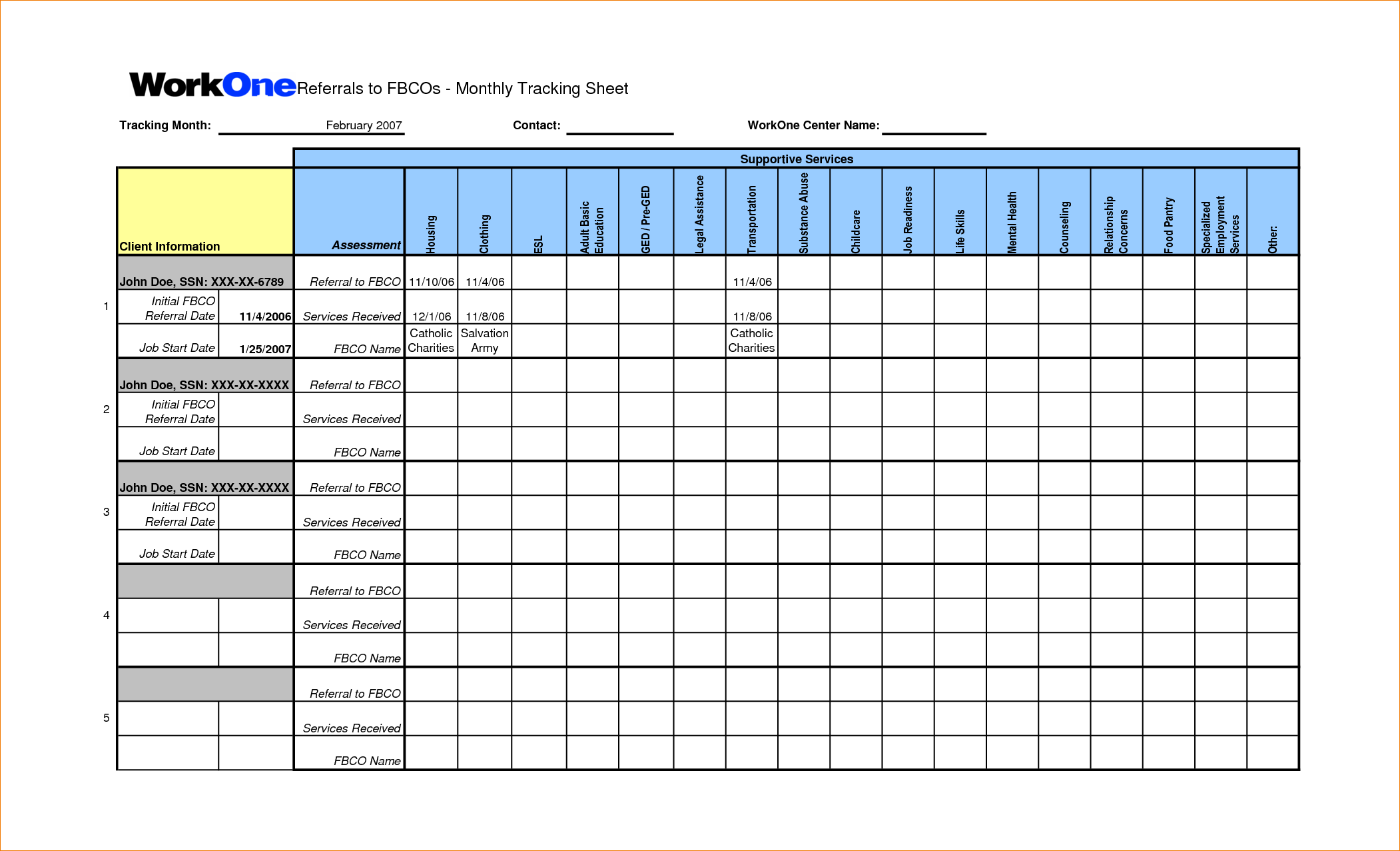 download job tracking spreadsheet template