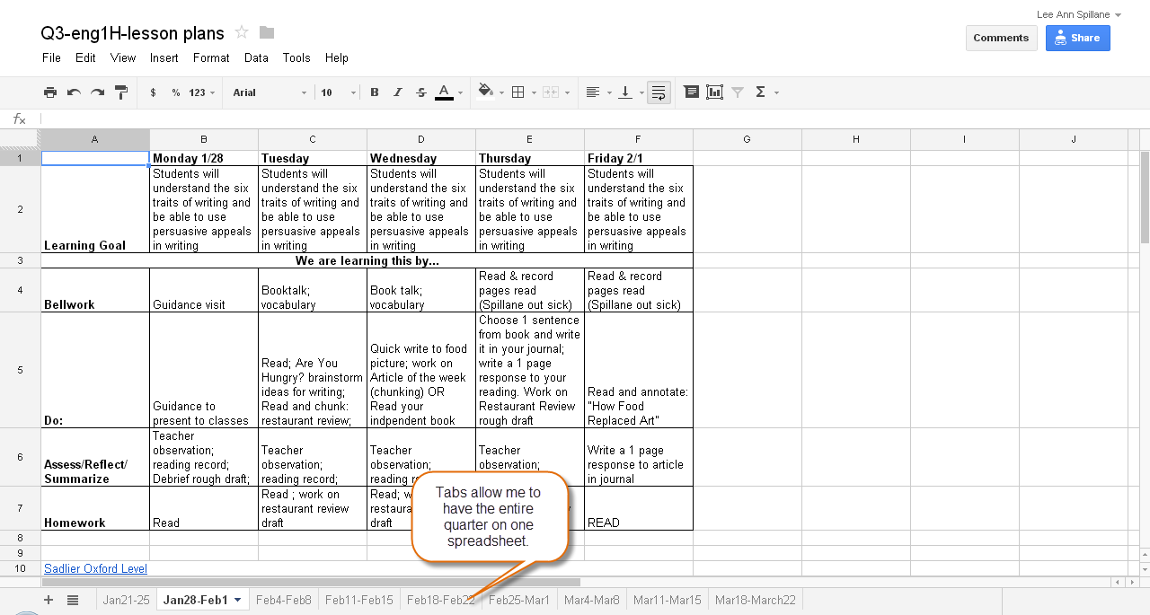 download microsoft excel lesson plans