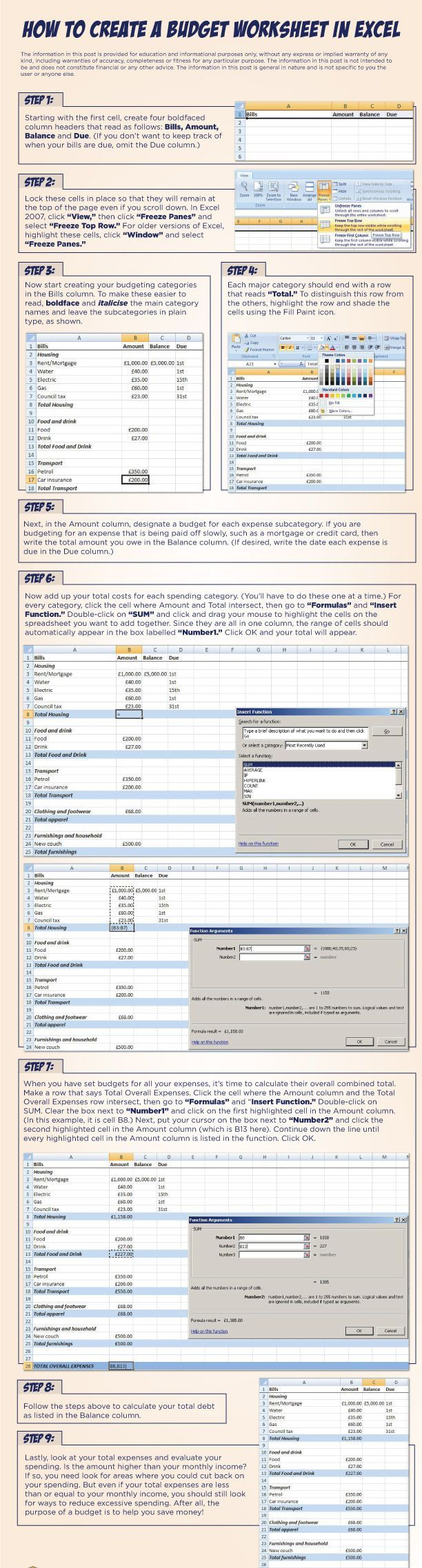 download personal budget spreadsheet