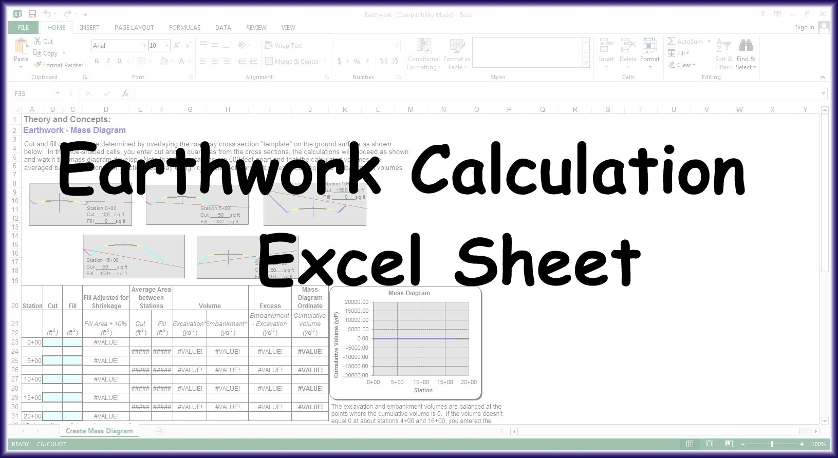 earth work calculation pdf