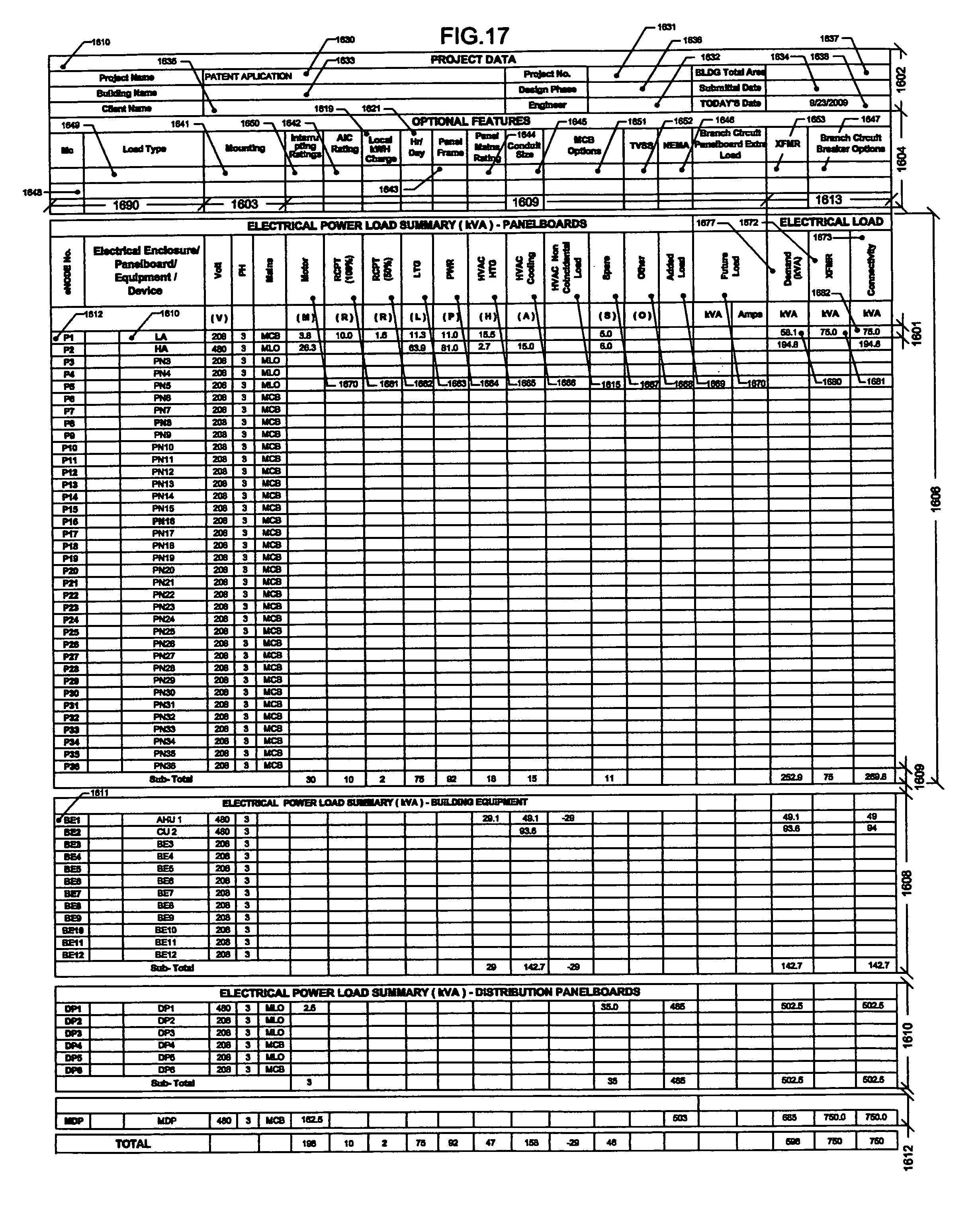 electrical load calculation worksheet excel