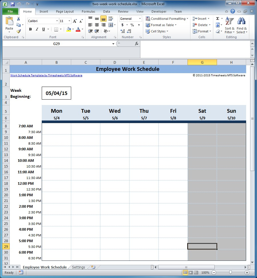 employee scheduling spreadsheet free