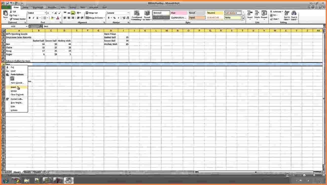 equipment tracking spreadsheet