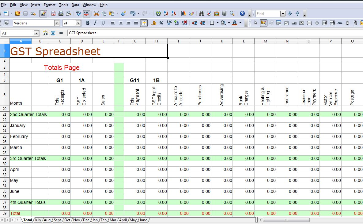 example of worksheet in excel