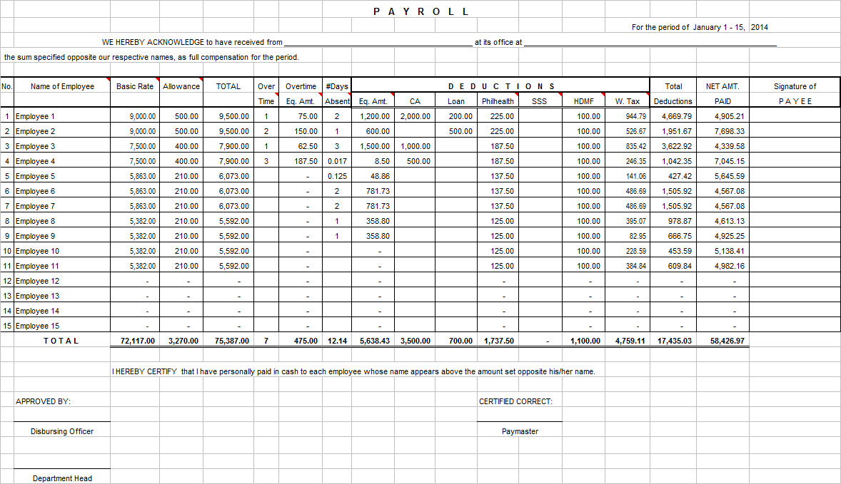 excel formula to calculate vacation