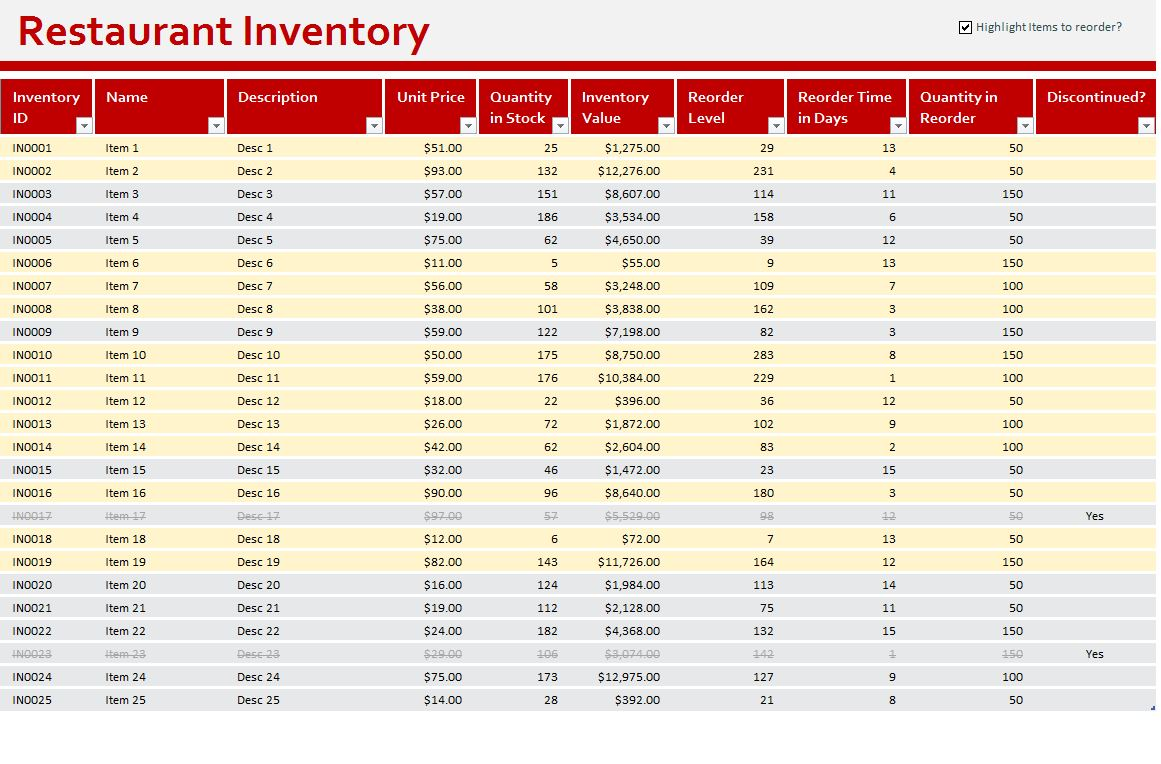 excel inventory spreadsheet download