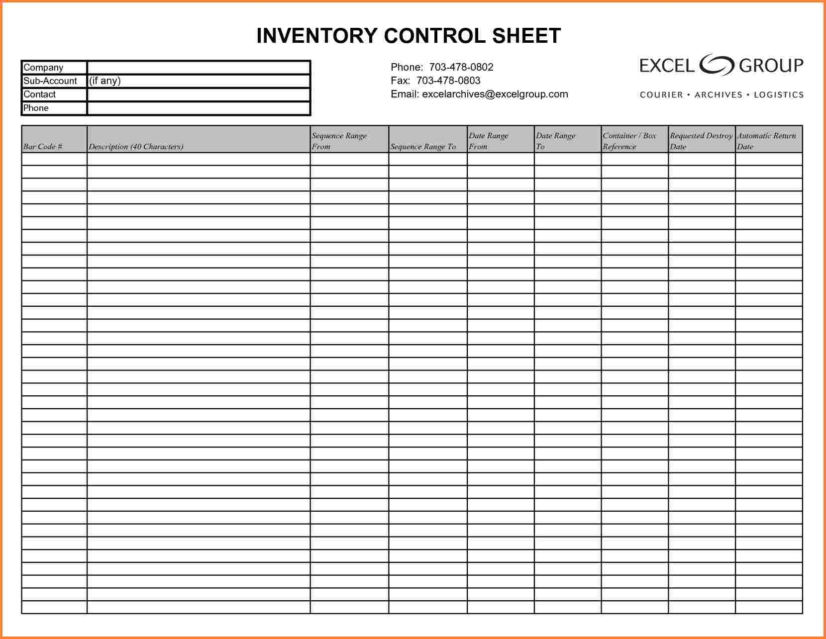 excel inventory spreadsheet template free