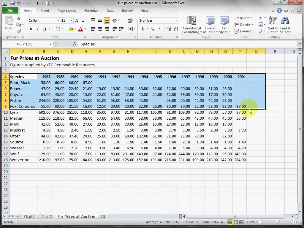 excel spreadsheet comparison