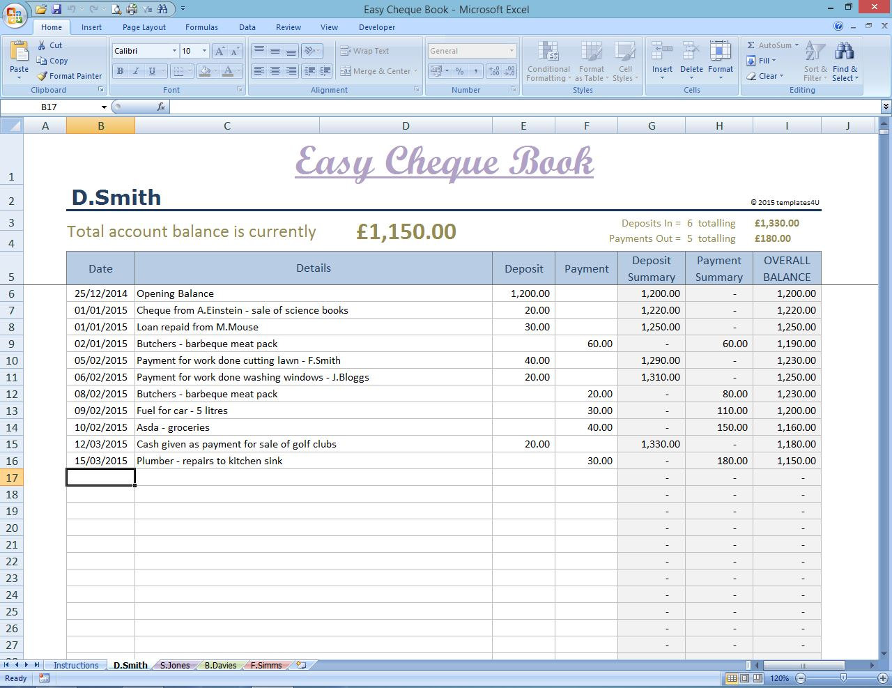 excel templates for business expenses download