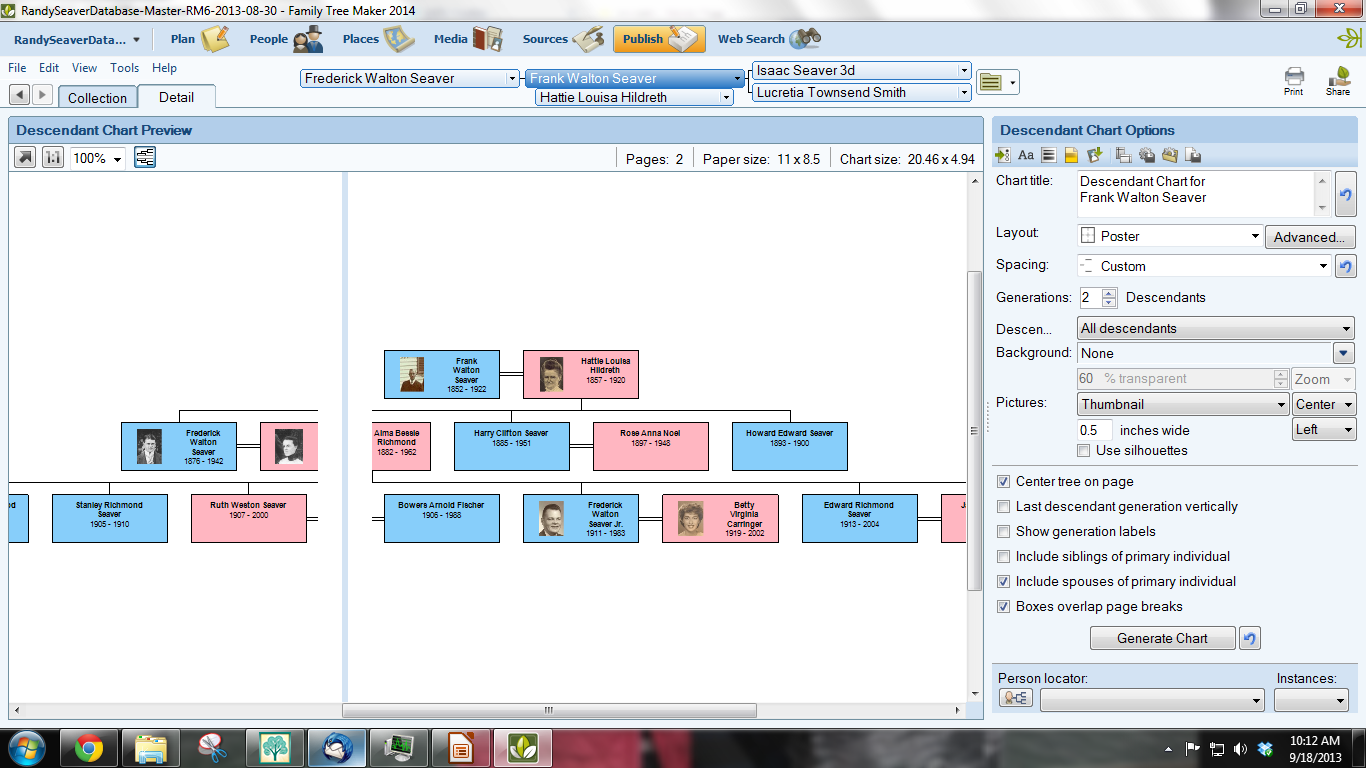family tree templates in word