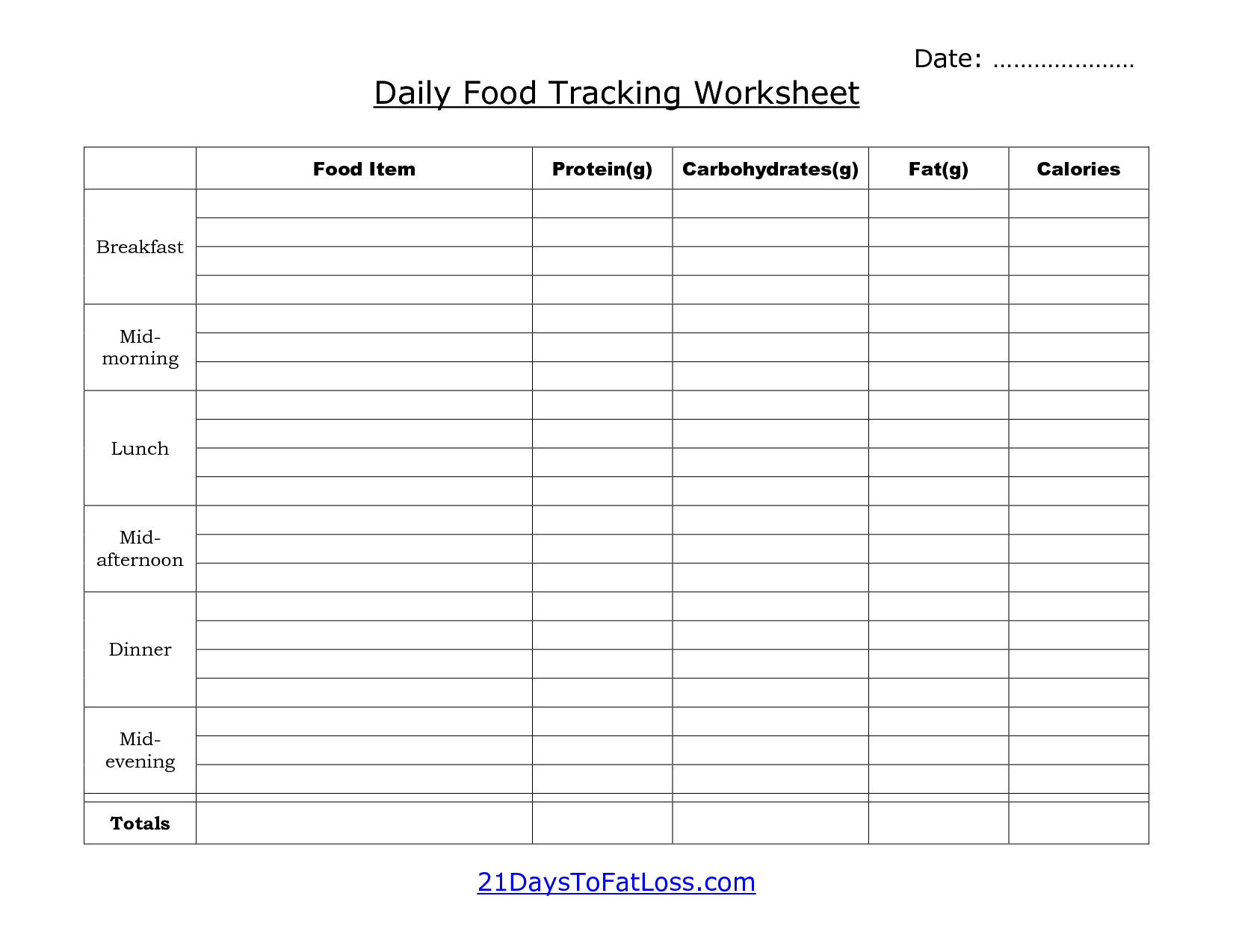 food calorie calculator spreadsheet