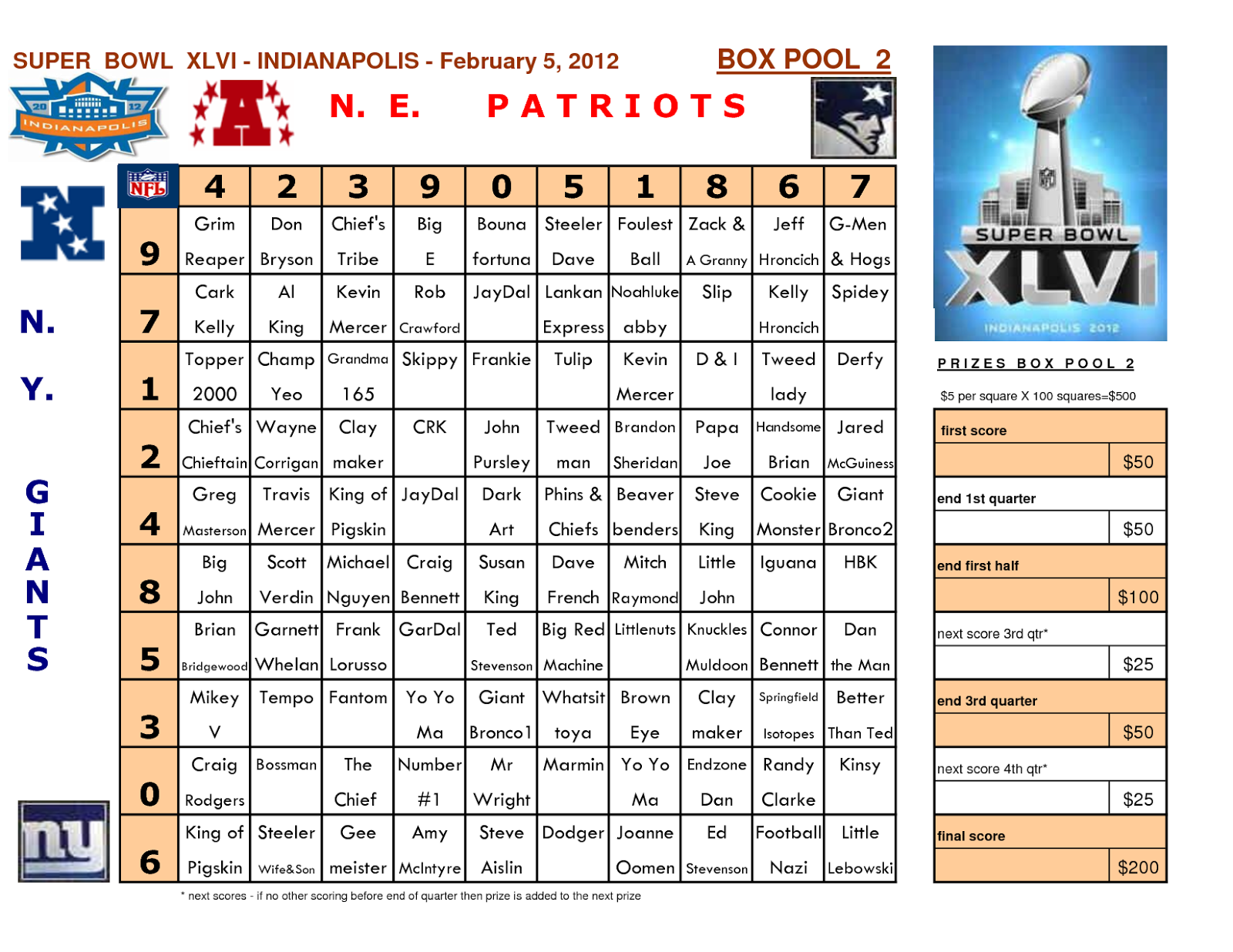 football squares game template