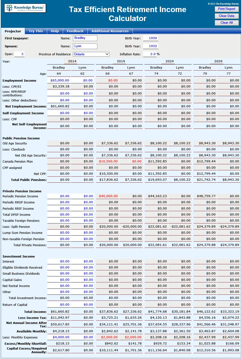 free Retirement Savings Spreadsheet