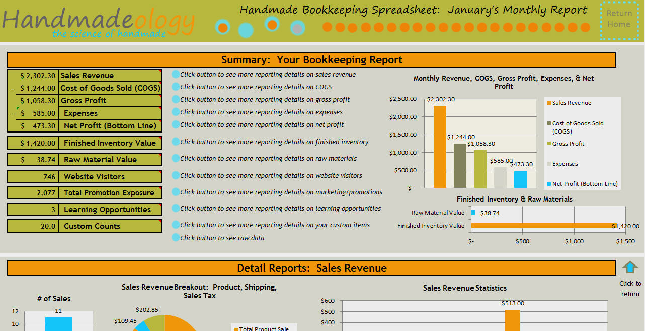 free bookkeeping template for small business download
