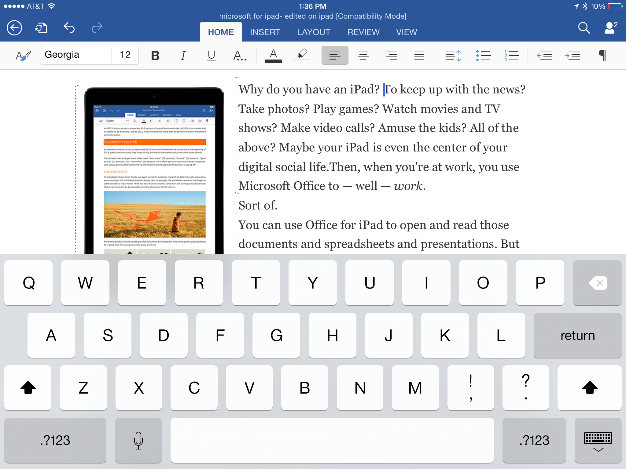free can you use excel on ipad pro download