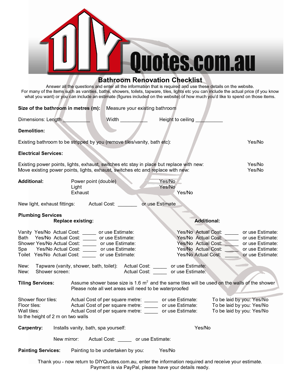 free construction estimating templates excel download
