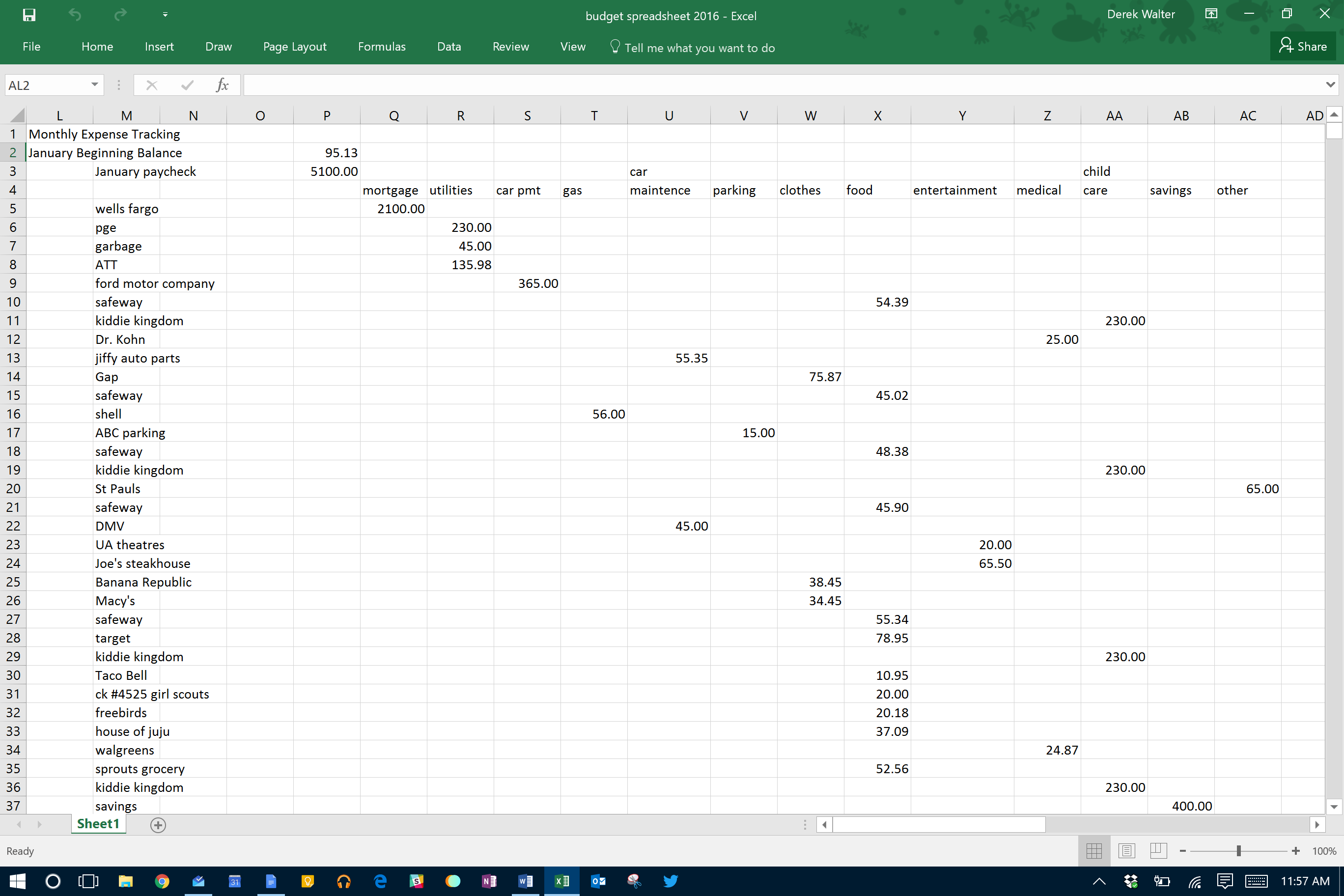 free download spreadsheet to keep track of expenses