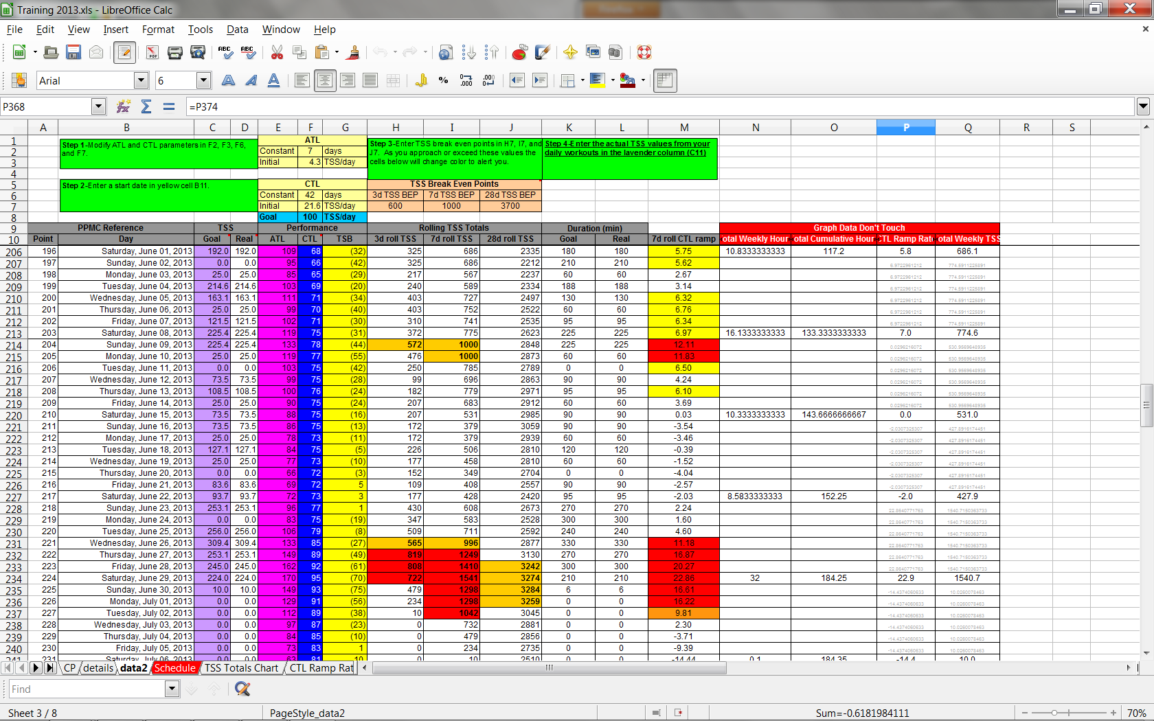 free download workout excel template