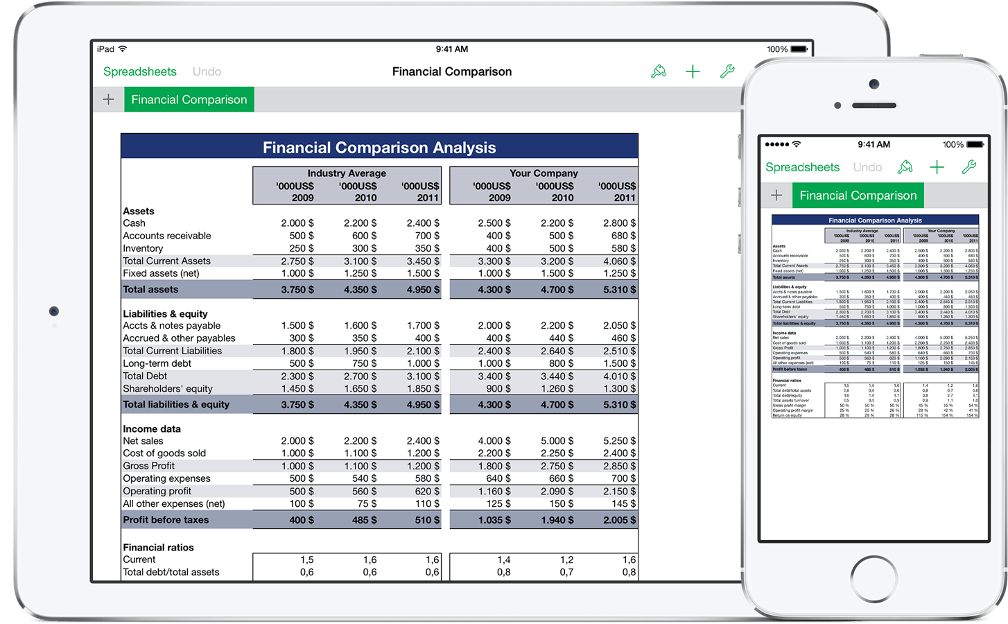 free dwonload spreadsheet for ipad compatible with excel