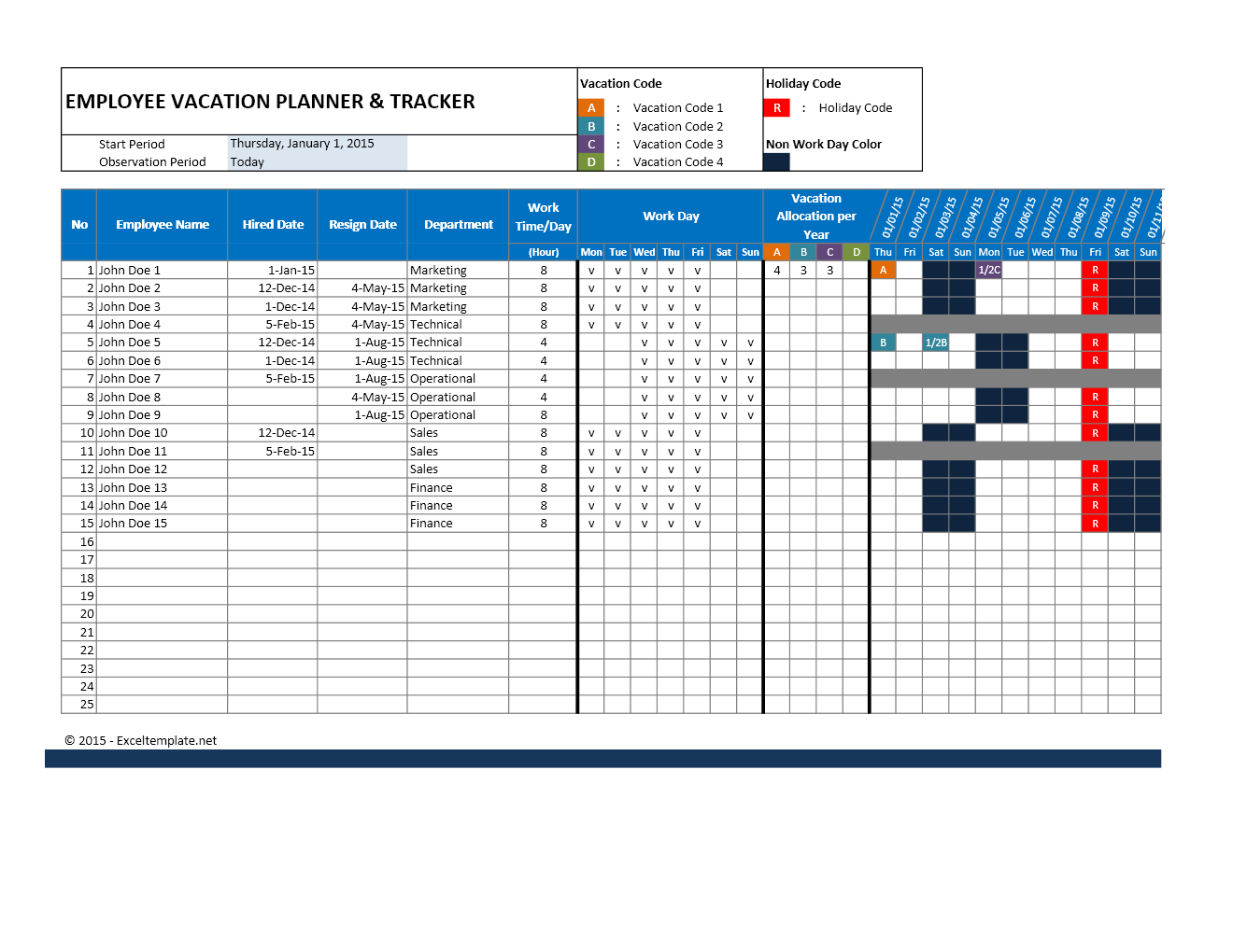 free employee vacation accrual spreadsheet