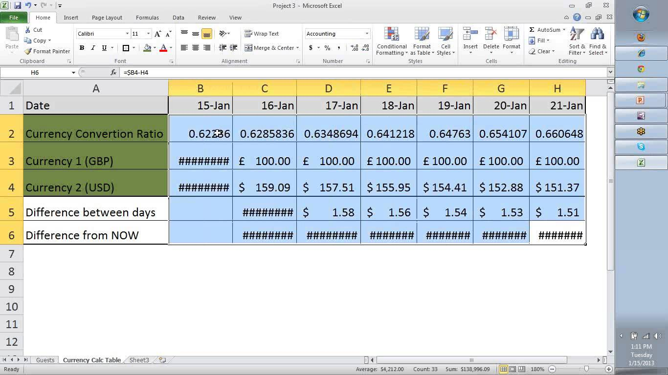 free excel tutorial