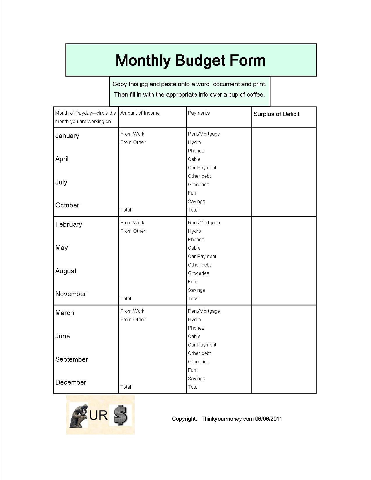 free how to make a monthly budget spreadsheet tutorials