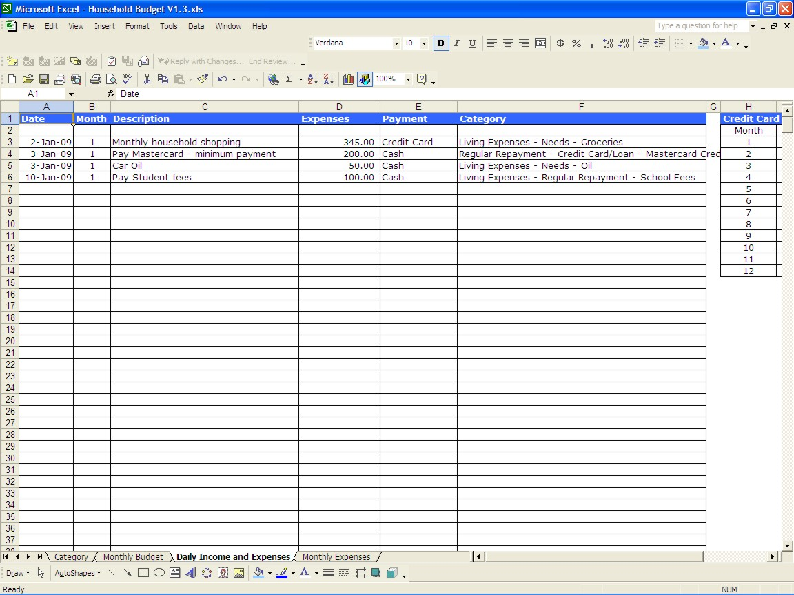 free personal income and expenses spreadsheet templates download