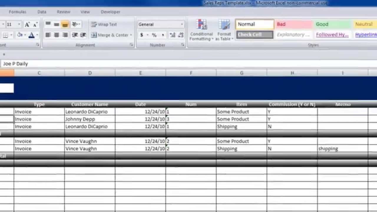 free sales commission tracking spreadsheet download