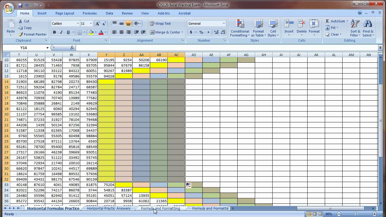 free sample excel spreadsheet for practice