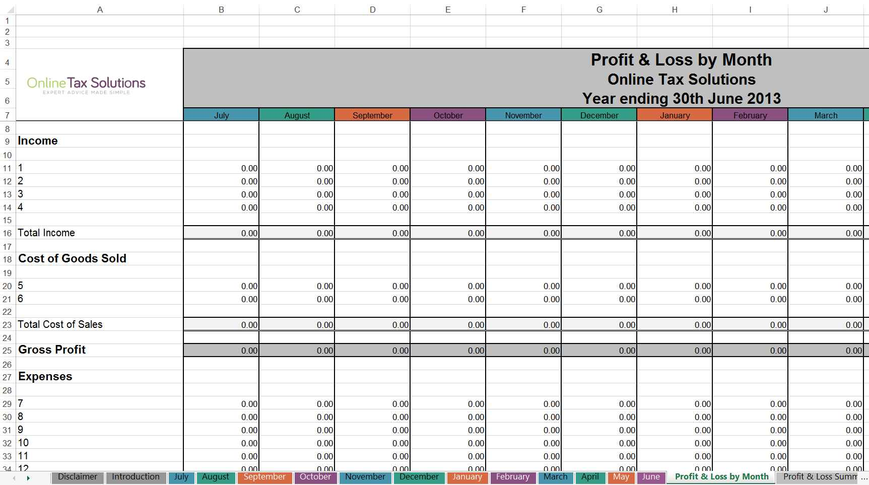 free self employed expenses spreadsheet template