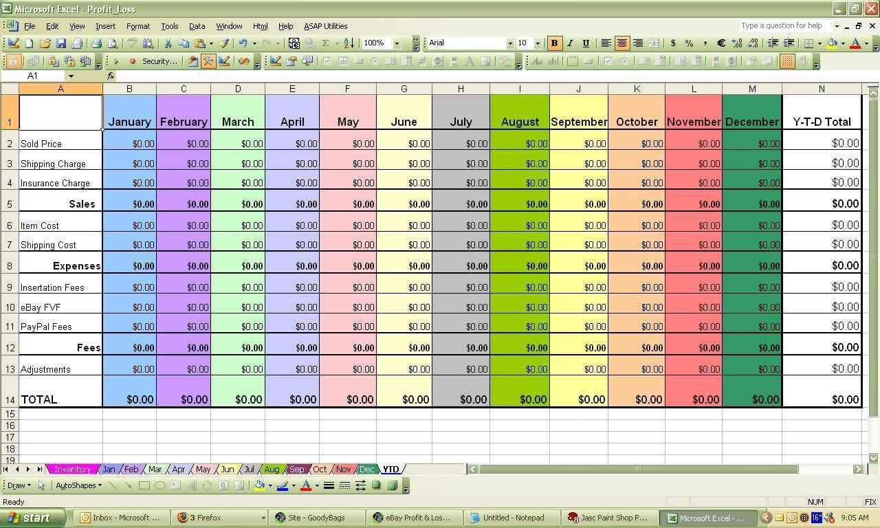 free simple accounting spreadsheet for small business