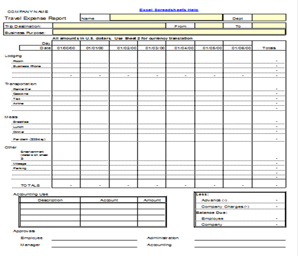 free simple business expenses spreadsheet download