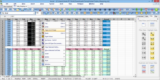 free spreadsheet for windows 8