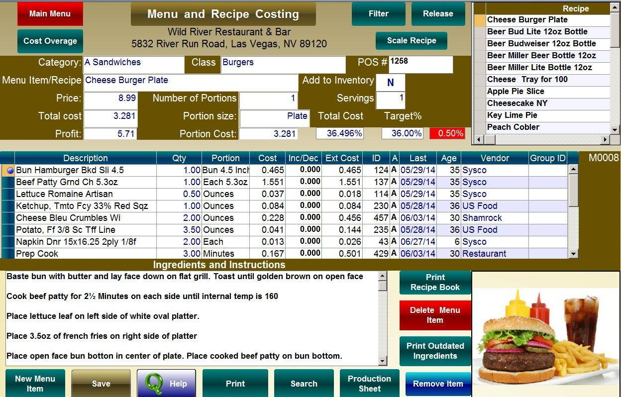 free template restaurant inventory spreadsheet download