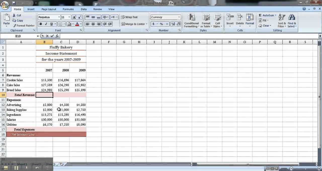 free tutorial for excel spreadsheets