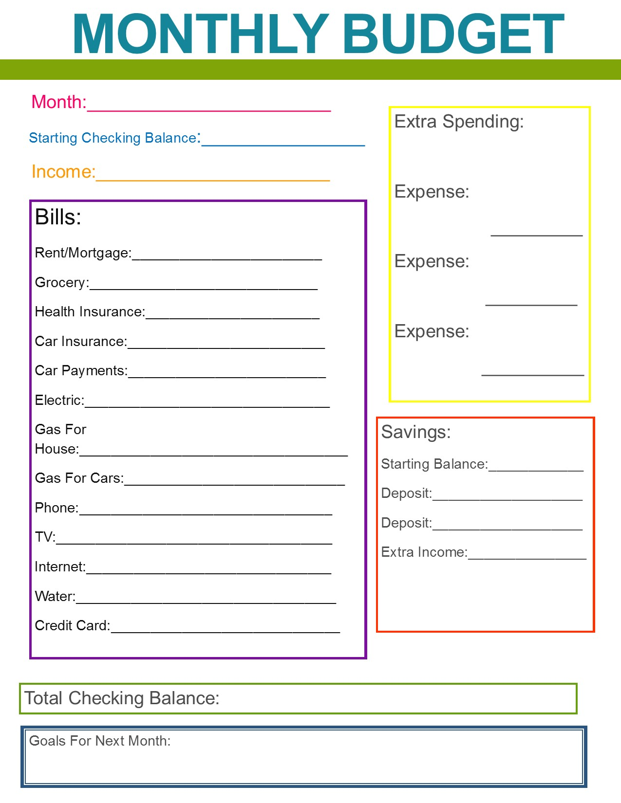 free tutorials how to make a monthly budget spreadsheet
