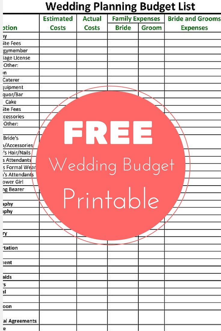 free wedding checklist spreadsheet