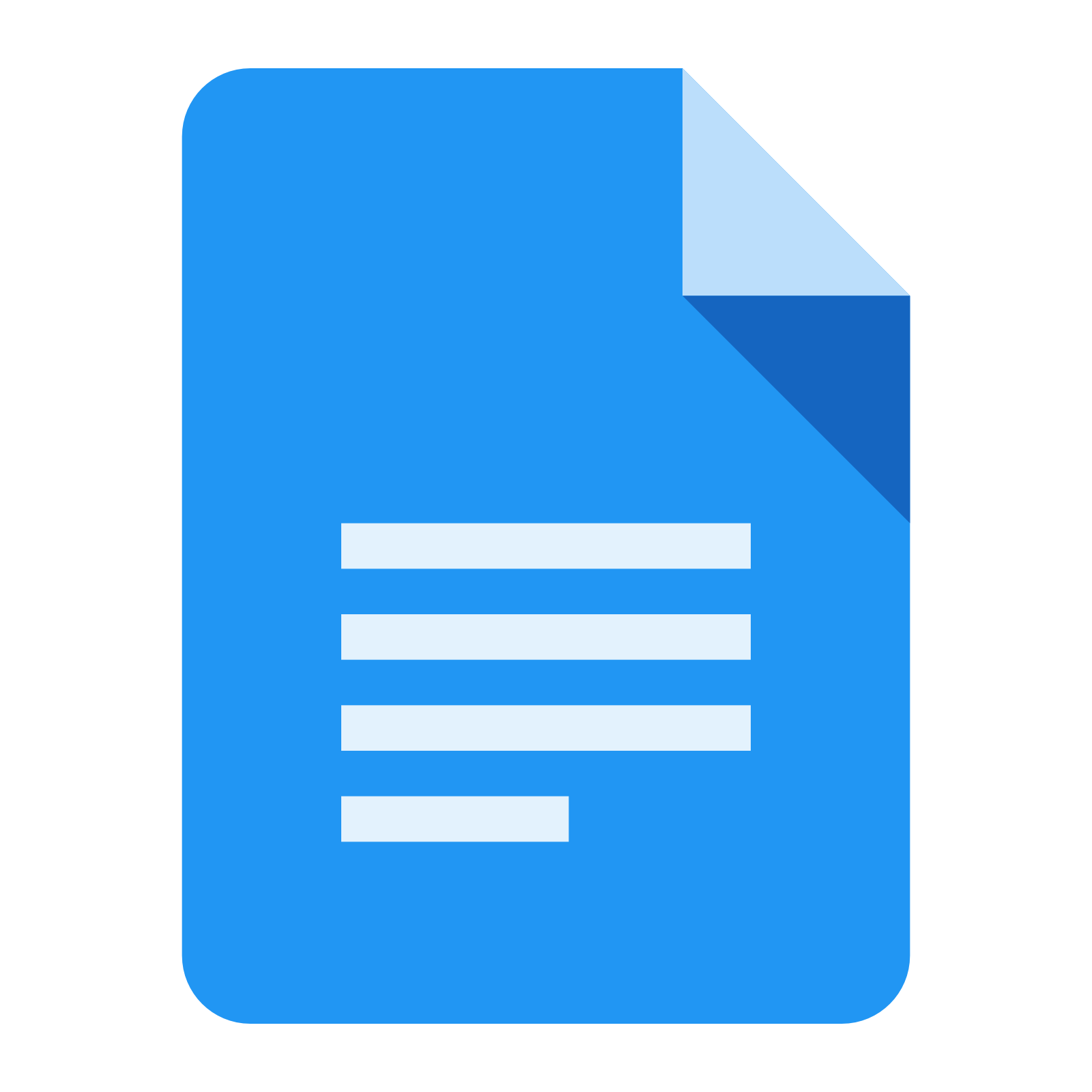 google docs icon on desktop