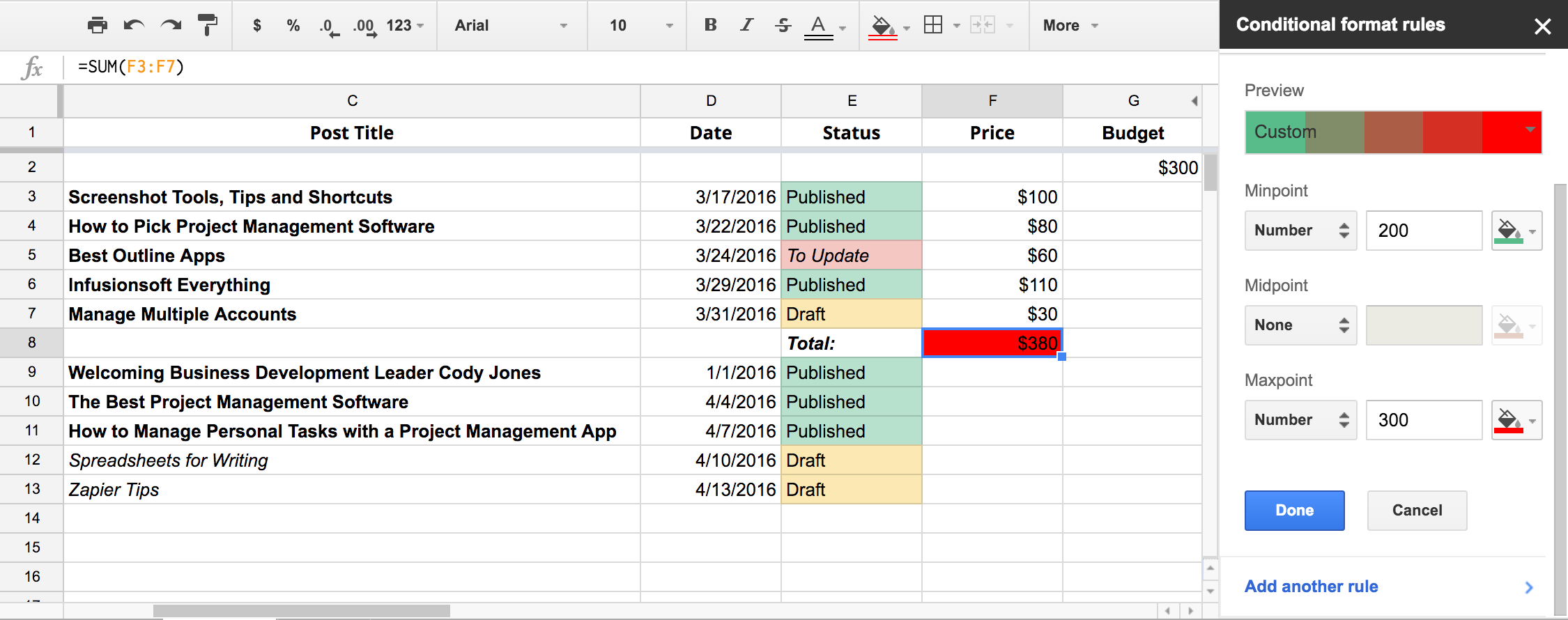 google sheets pivot table calculated field