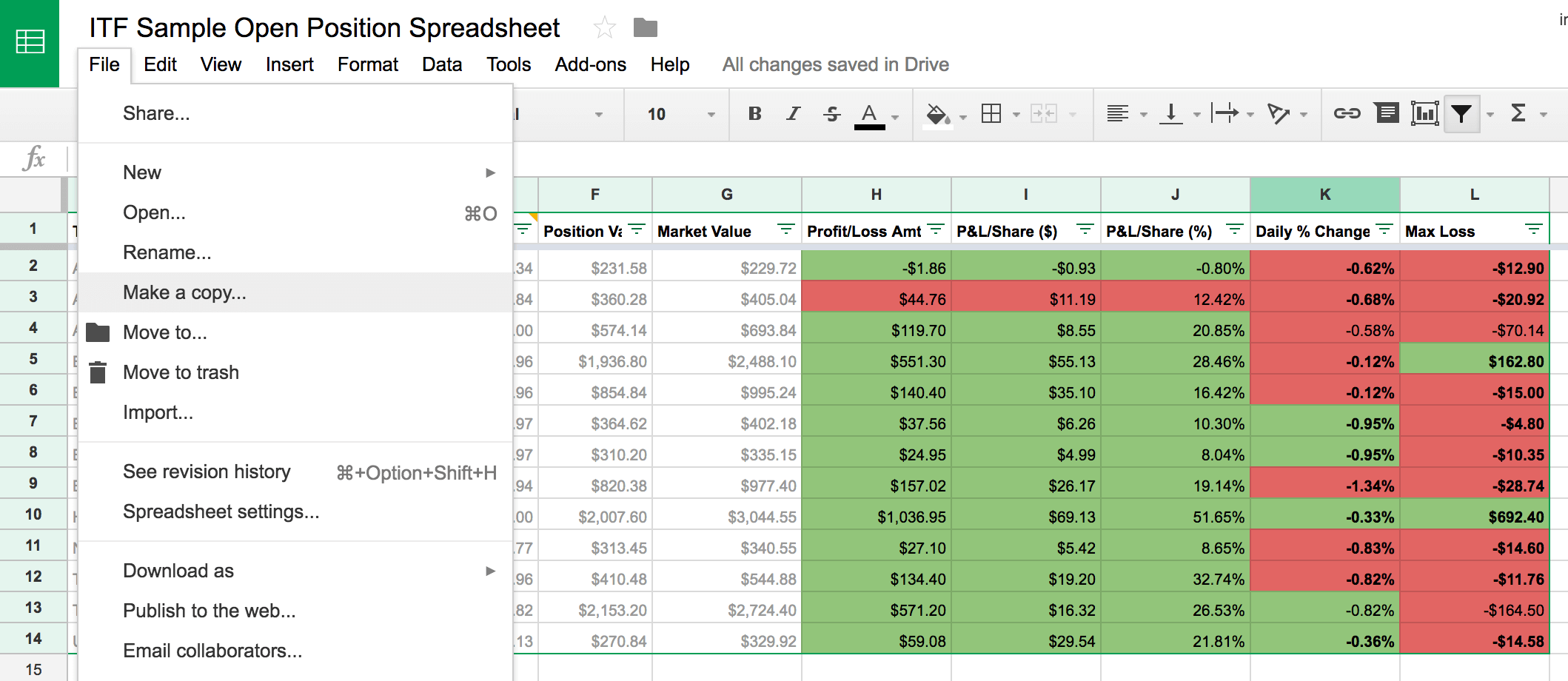 google spreadsheet if