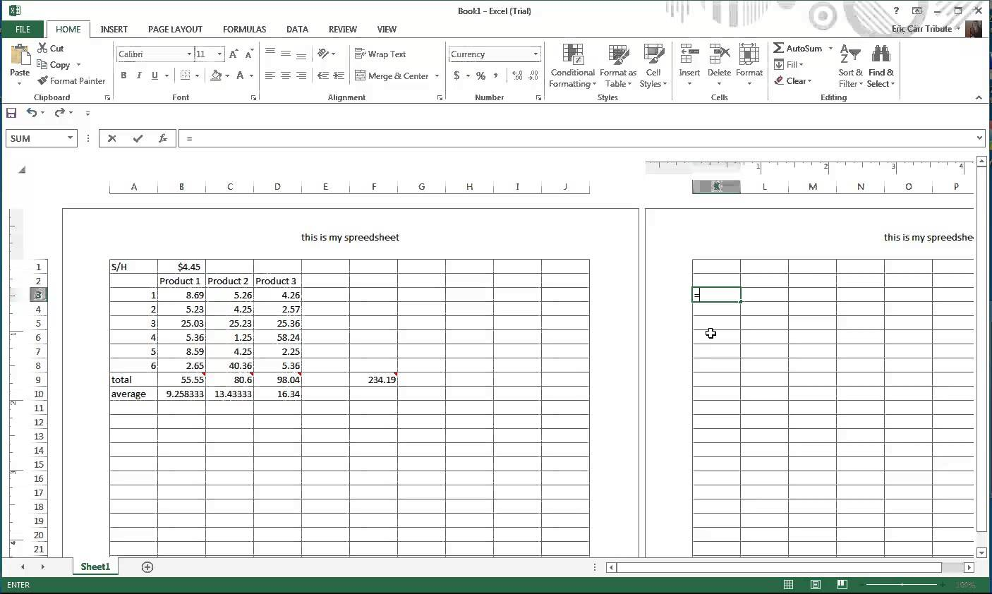 grocery store price comparison spreadsheet