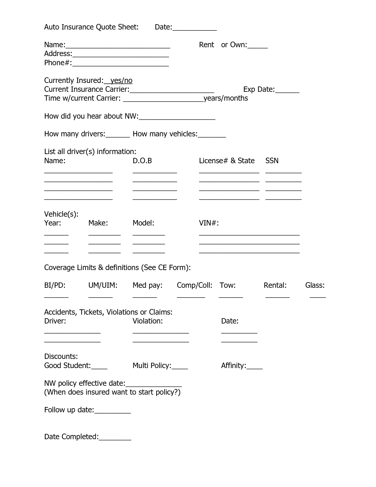 home insurance quote sheet template_10