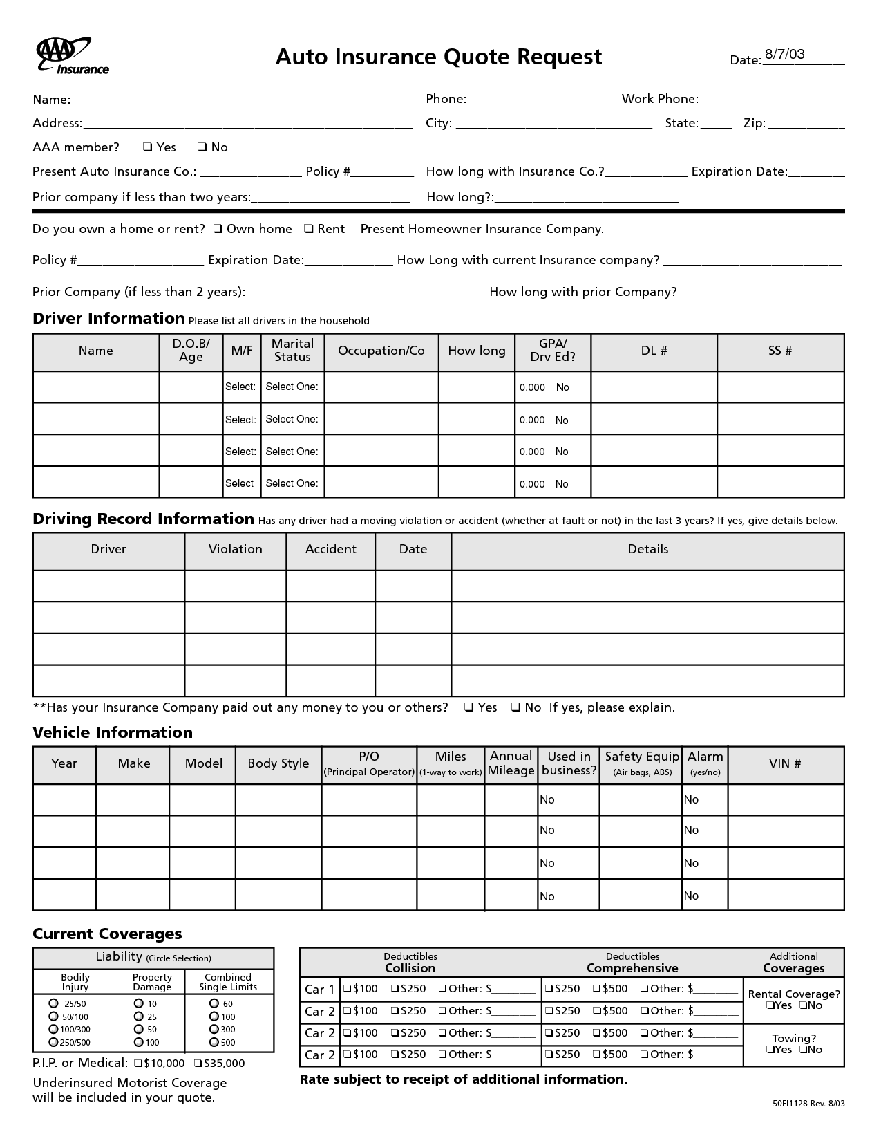 home insurance quote sheet template_15