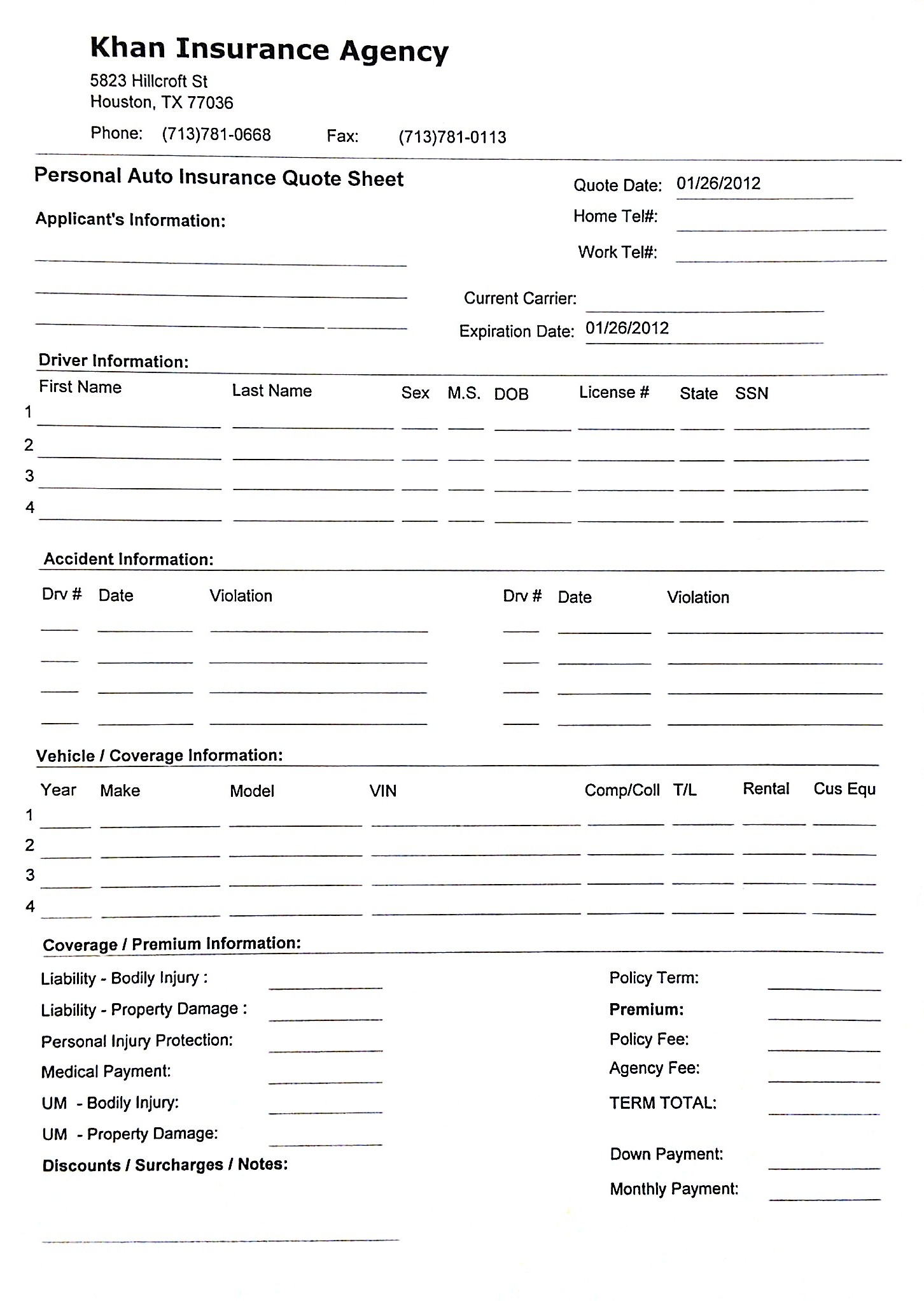 home insurance quote sheet template_5