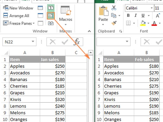 how can i compare two excel spreadsheets for differences