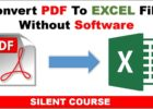 how to convert a pdf to excel spreadsheet