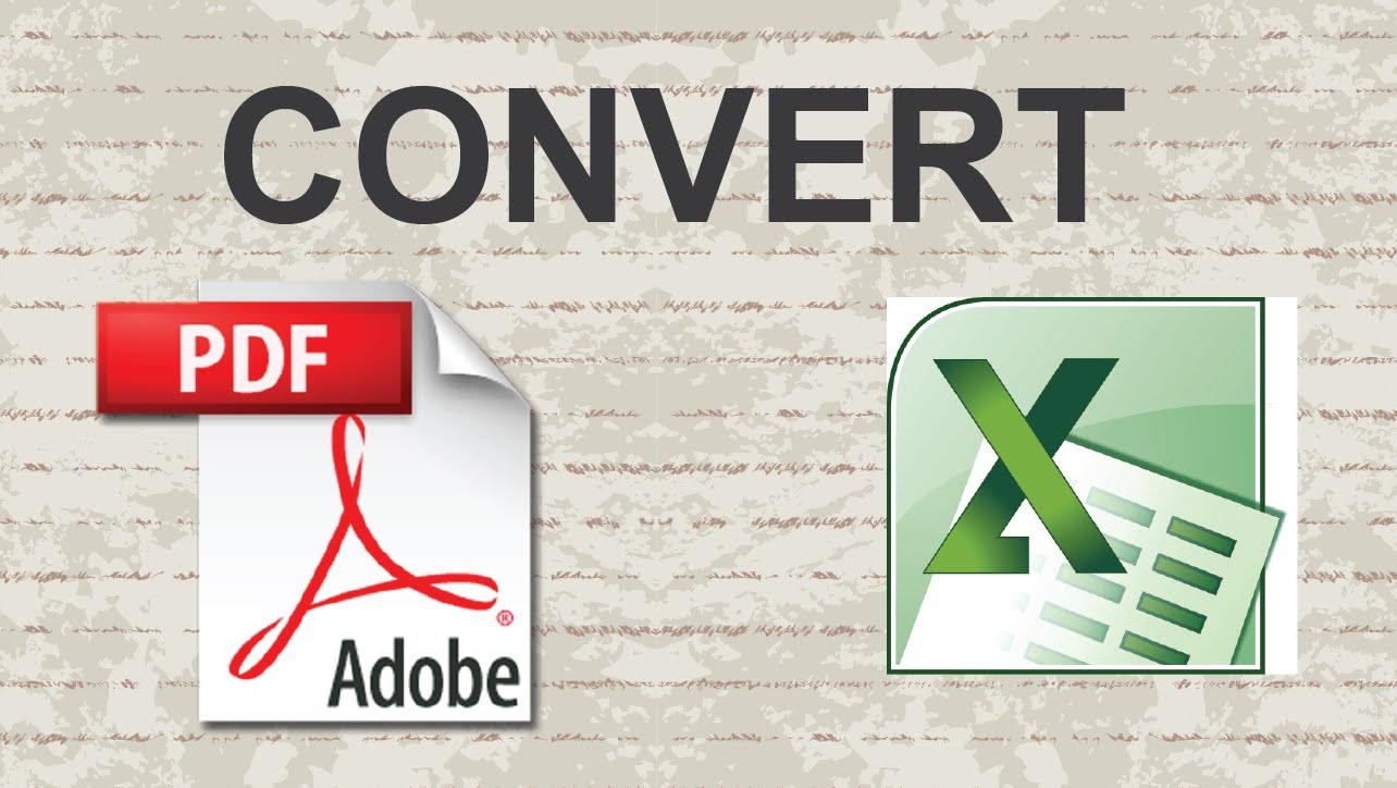 how to convert pdf to excel sheet online