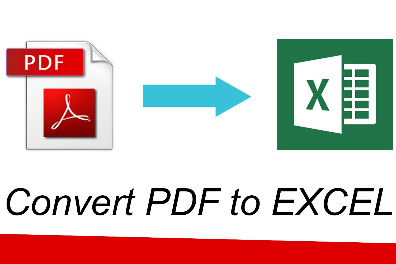 how to convert pdf to excel sheet