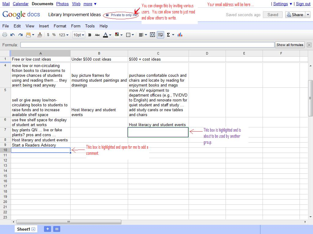 how to edit google docs spreadsheet